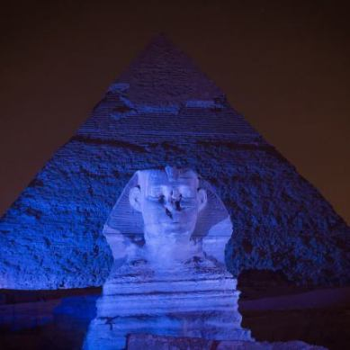 PIRAMIDE Y ESFINGE -EGIPTO-
